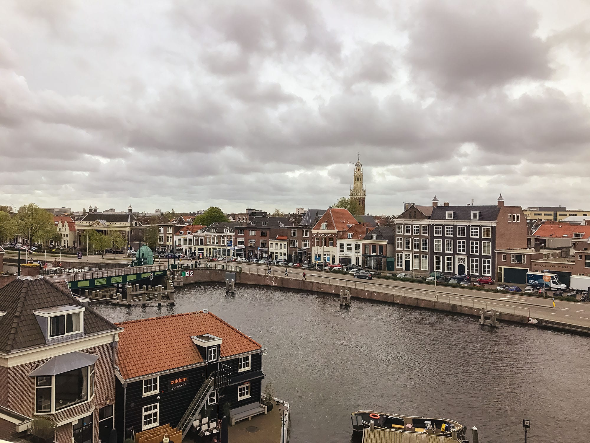 Haarlem from the viewing platform at de Adriaan Windmill