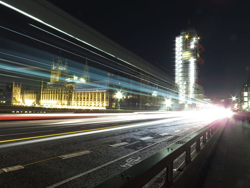 Traffic on Westminster Bridge shot during the Airbnb Photo Experiences in London | The Silver Nomad
