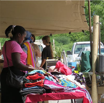 bric-a-brac stall at Maun Farmers Market | The Silver Nomad