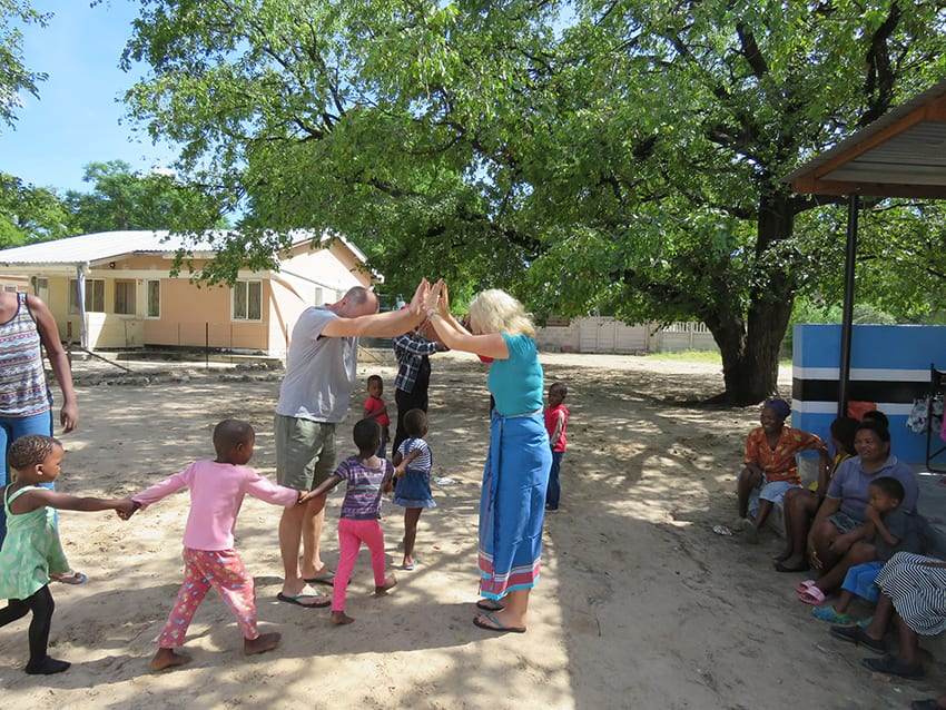 The children playing at Feed a Child Botswana