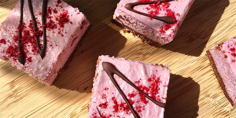 Cacao & Raspberry Raw Slice by Nourish by Rebecca at Kelso Farmers' Market July