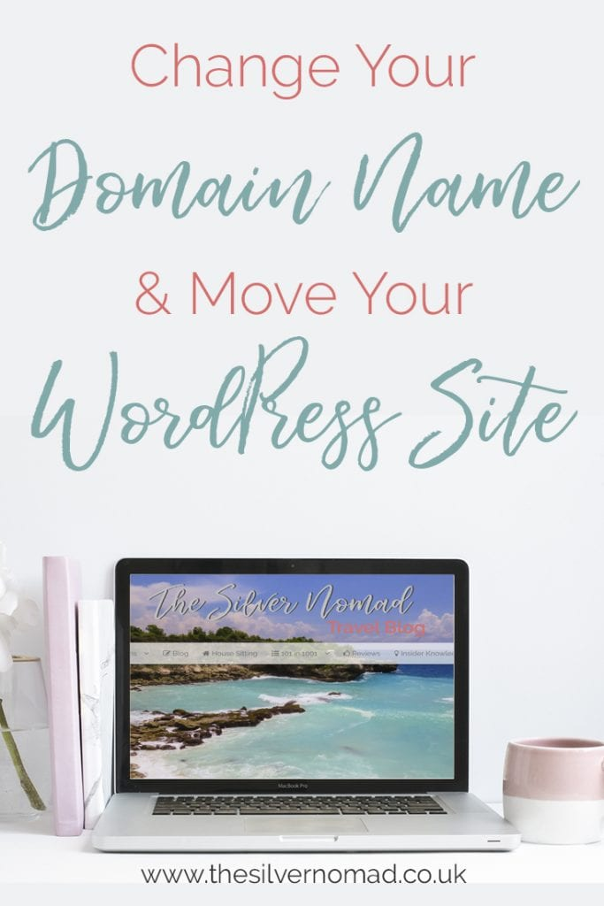 Change your domain name and move your wordpress site