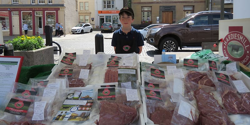 Hardiesmill Beef at Kelso Farmers' Market July