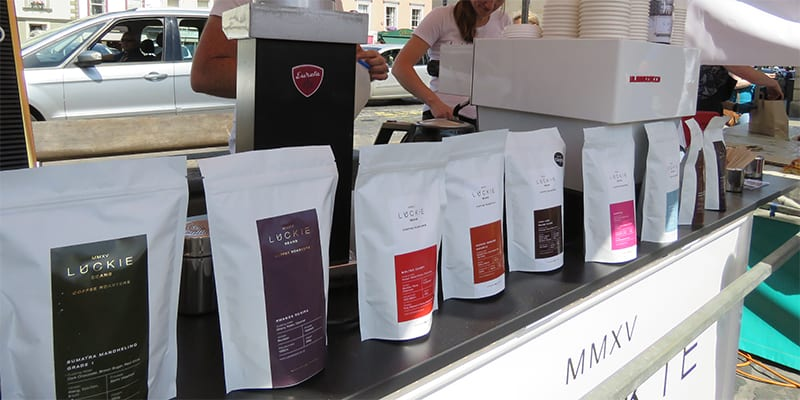 Luckie Coffee at Kelso Farmers' Market July