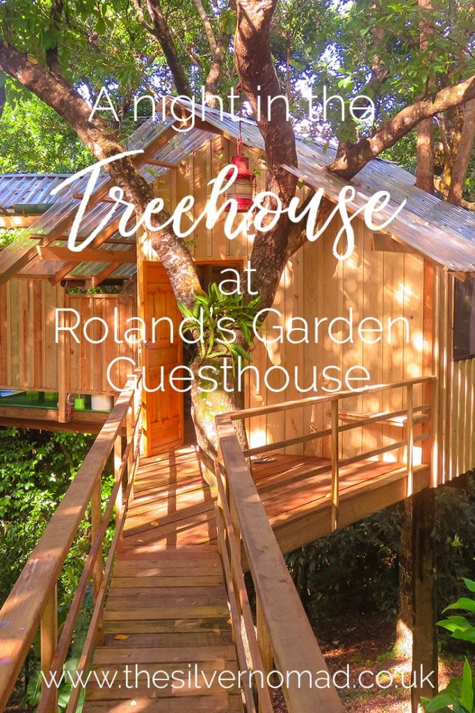 A night in the Treehouse at Roland's Garden Guesthouse, Guanaja