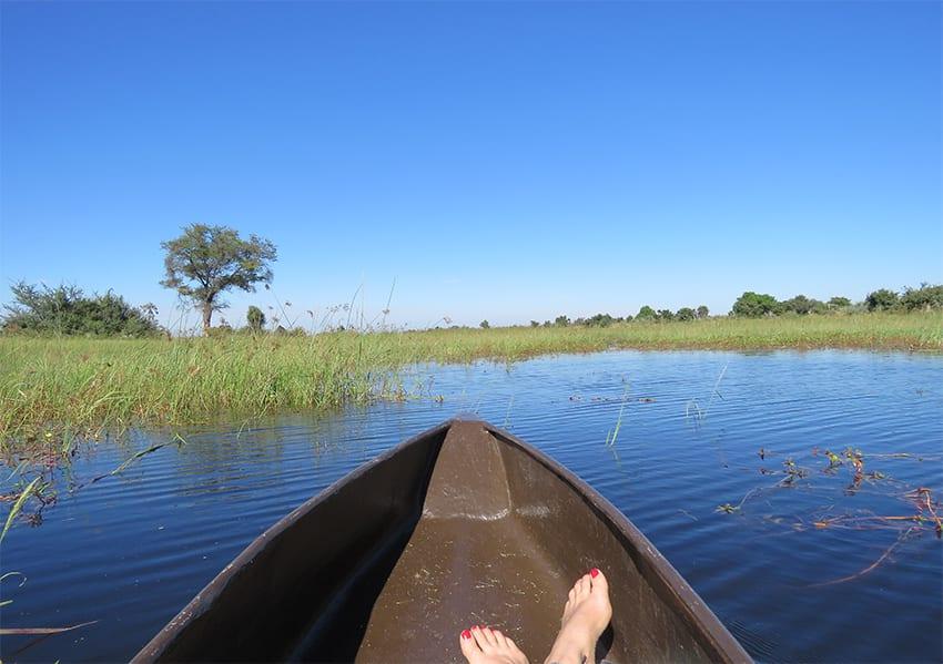 Mokoro boat ride at Rra Dinare