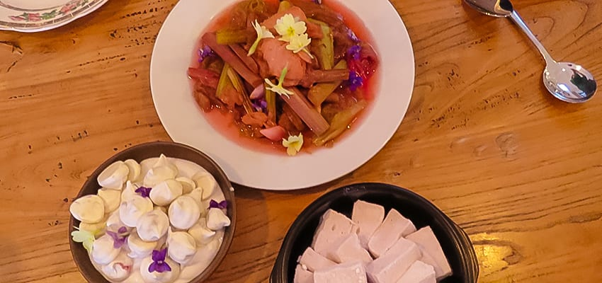 Rhubarb 4 ways Rose water marshmallows