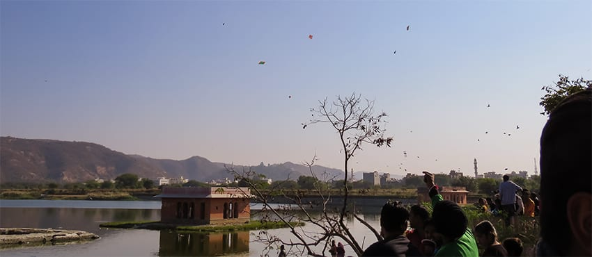 Kite Festival at Jal Mahal