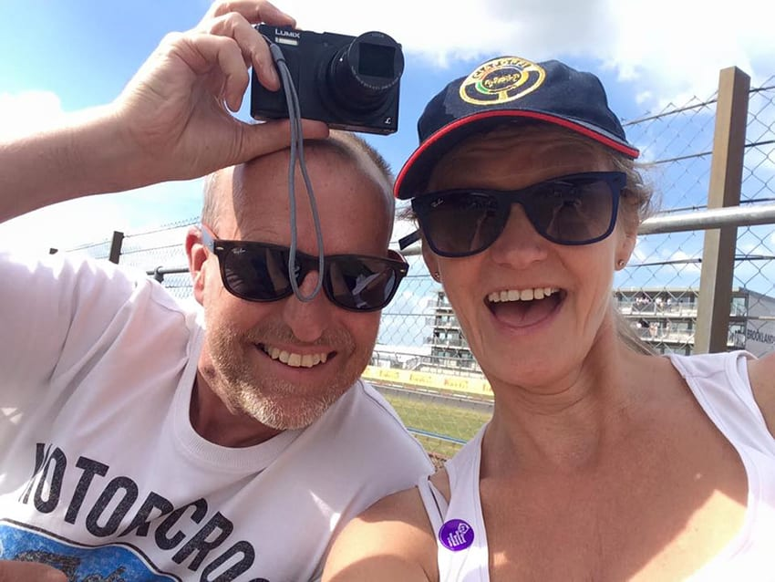 Alan and I at the British Grand Prix in 2015