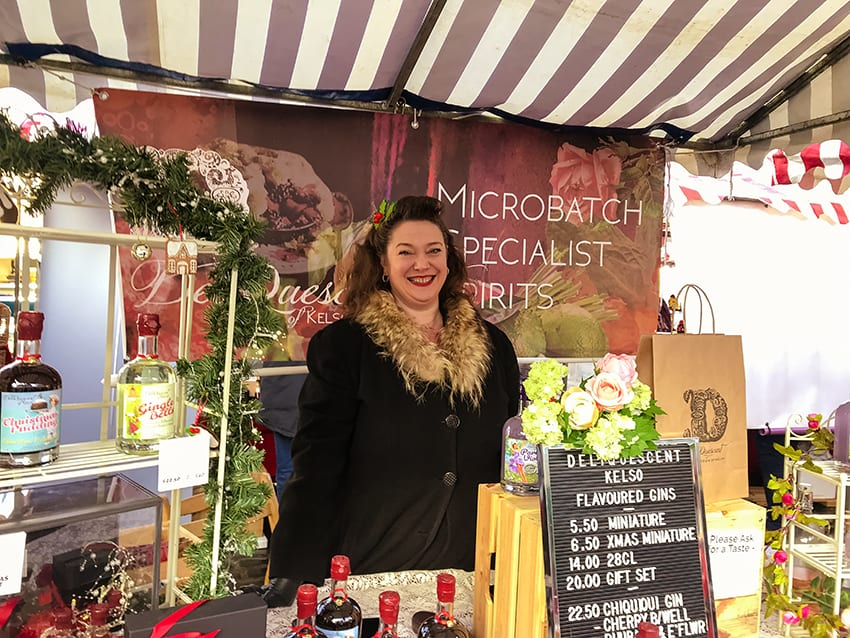DeliQuescent Gin at Kelso Farmers Market in December 2018