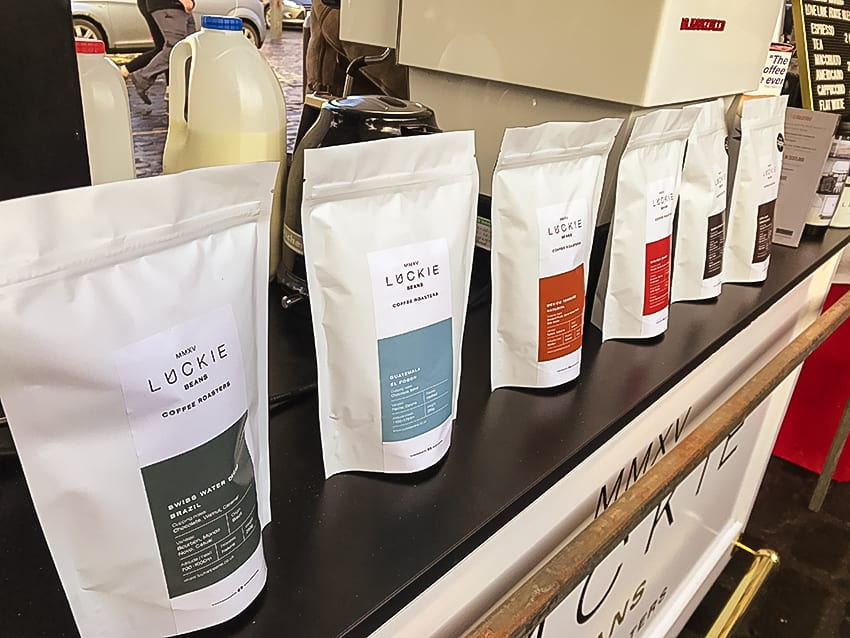 Luckie Bean Coffee at Kelso Farmers Market