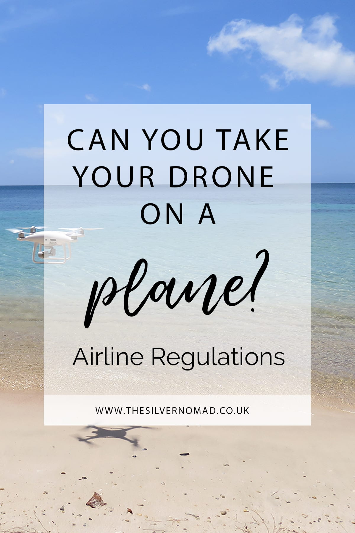 Can you take your drone on a plane