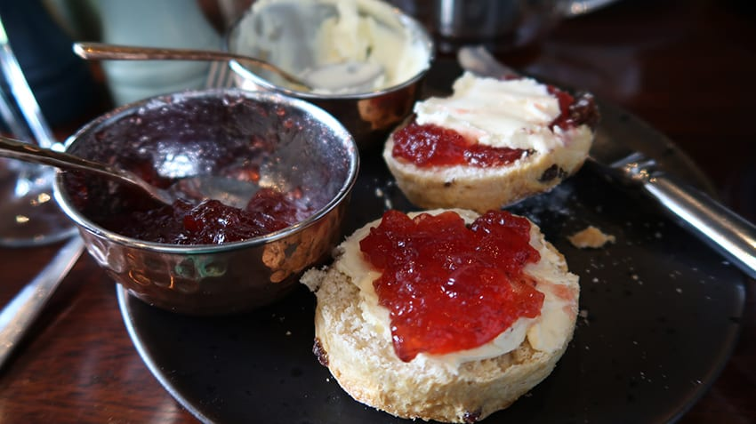 scones with cream and jam or jam and cream