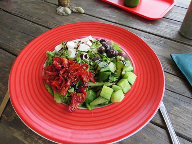 Salad at Okavango River Lodge