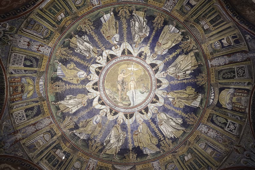 Ceiling of Battistero Neoniano in Ravenna
