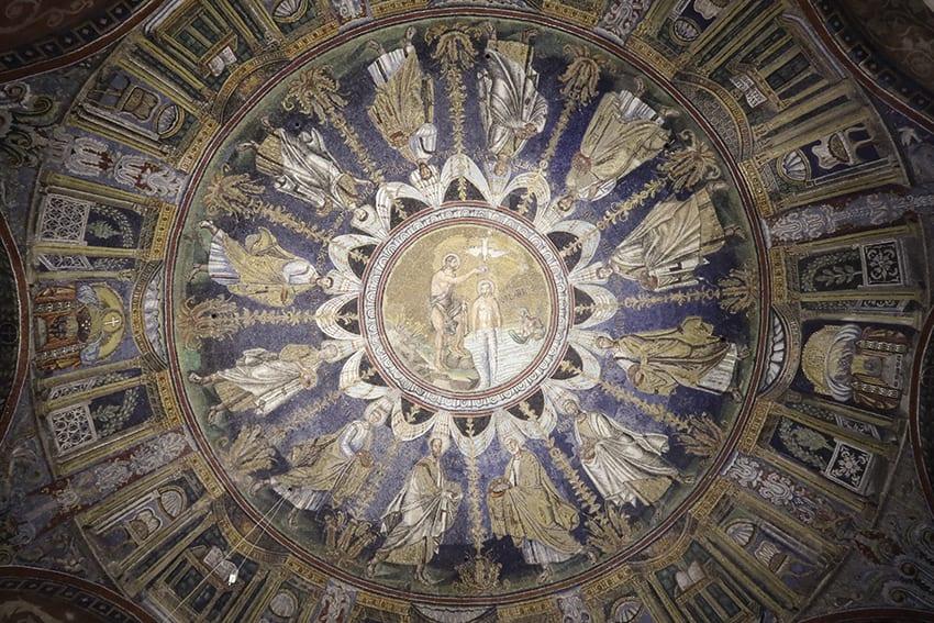 Ceiling of Battistero Neoniano in Ravenna
