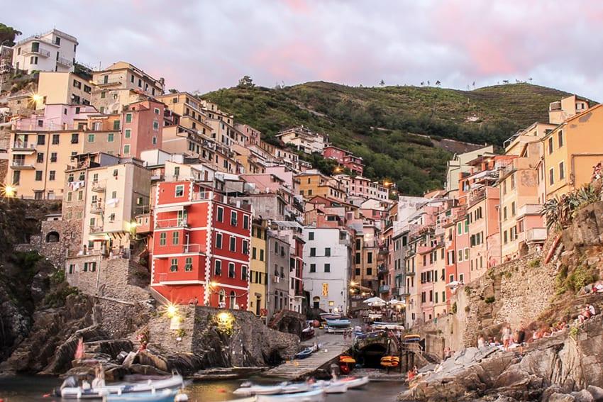 Riomaggiore in Cinque Terre Italy by whynotju.com