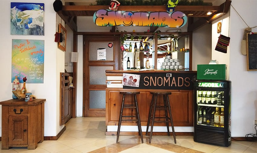 Snomads bar at Chalet Diana Ross