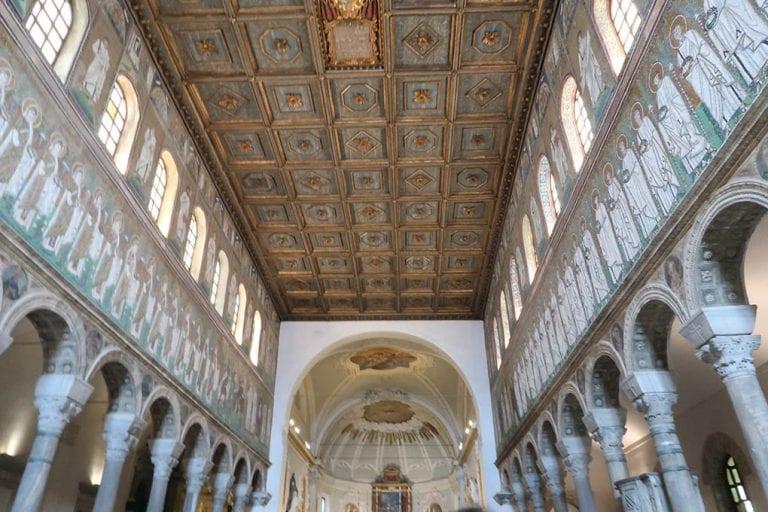 The ceiling of Basilica di Sant'Appollinare Nuovo