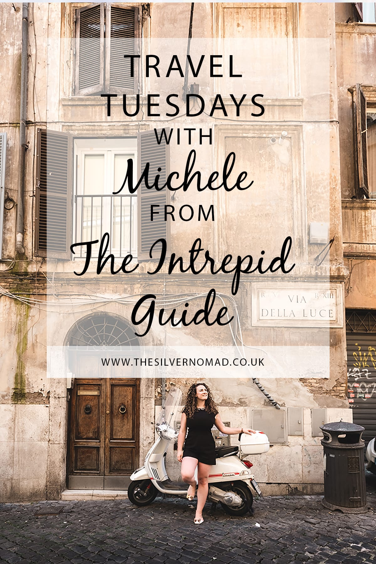 Travel Tuesday with The Intrepid Guide. Michele answers questions on her travel style, tips and favourite destinations to travel to.