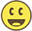yellow circle symbol with smiley face denoting that you have found a cache
